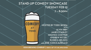 COMEDY AT VENN! @ Venn Brewing Company