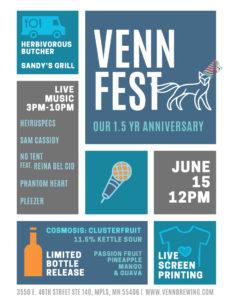 VENN FEST - 1.5 Yr Anniversary Party @ Venn Brewing Company